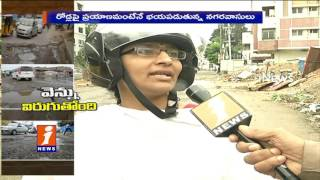 GHMC Negligence On Damaged Roads In Hyderabad   KCR Government   iNews Special Report