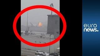 Emirates Airline flight explodes into fireball after crash-landing at Dubai airport