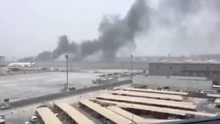 Emirates Plane Crash landing Dubai Airport
