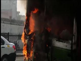 DTC की चलती बस में लगी आग, बाल-बाल बचे यात्री (Delhi)