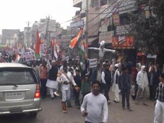MCD कर्मचारियों के लिए सड़कों पर उतरीं तीनों राजनीतिक पार्टियां (Delhi)