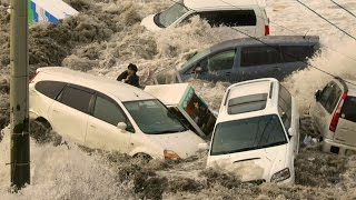 MEGA TSUNAMI - Caught on camera - Tsunami Earthquake Japan 2011 - Most Shocking Tidal Wave Video