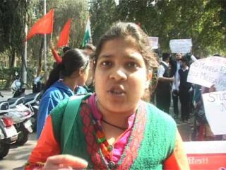 जेएनयू मुद्दे को लेकर एबीवीपी का प्रदर्शन, निकाली रैली