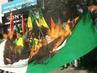डोगरा फ्रंट ने फूंका पाकिस्तान का झंडा