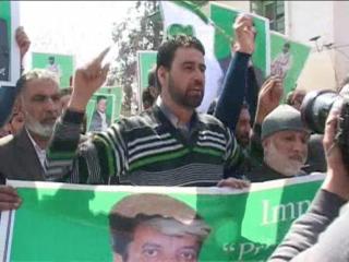 शब्बीर शाह की रिहाई को लेकर प्रदर्शन, गिरफ्तार