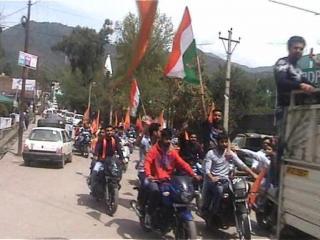 पुंछ में नववर्ष पर युवाओं ने निकाली 'मोटरसाइकिल रैली'