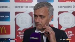 Jose Mourinho Post Match Interview Community Shield 2016 Manchester United vs Leicester City