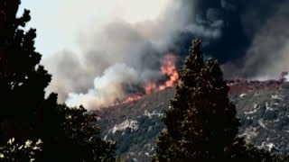 Raw: Fast-Moving Wildfire in Southern California