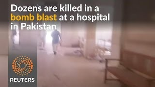 Dozens killed in blast at Pakistani hospital