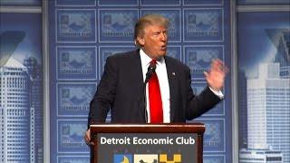 Trump unveils US economic plan in Detroit