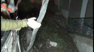 भवन का छज्जा गिरा, हो सकता था बड़ा हादसा