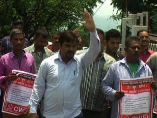 मांगों को लेकर प्रदेश भर में सड़कों पर उतरे मजदूर