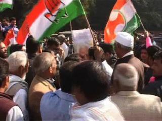 दीपेंद्र हुड्डा के अपमान से नाराज कांग्रेस ने फूंका सीएम का पुतला