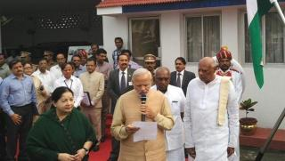 PM Modi conducts aerial survey of flood affected areas