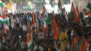 देश विरोधी नारे लगाने वालों के खिलाफ ABVP ने निकाला मार्च