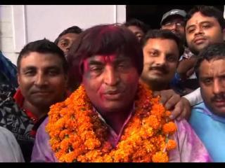निकाय चुनाव परिणाम घोषित, उम्मीदवारों ने मनाया जीत का जश्न
