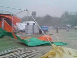 अंबालाः CM खट्टर की रैली में हादसा, 8 लोग घायल