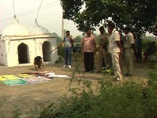 बिजनौर में साधू की उसी के त्रिशूल से हत्या