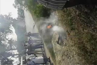 पत्नी कि विदाई ना होने पर पति ने लगाई आग, वीडियो