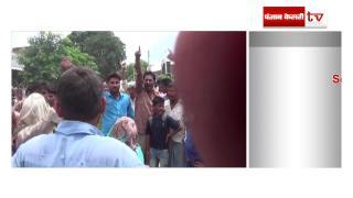 बच्चे की मौत से गुस्साए ग्रामीणों ने किया सड़क जाम