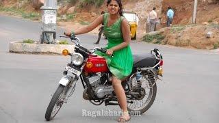 Indian Girl Bike Stunt on Road
