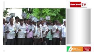 सरकार से परेशान किसान, मजदूर और छात्र, सड़क पर प्रदर्शन