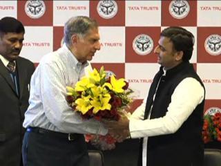 यूपी सरकार के साथ मिलकर रतन टाटा करेंगे प्रदेश की गरीबी दूर