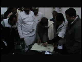 स्वास्थ्य मंत्री ने जिला अस्पताल का किया अचौक निरीक्षण