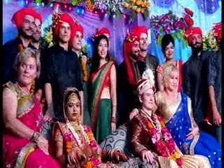 धूम- धाम से हुई विदेशी दूल्हे और भारतीय दुल्हन की शादी