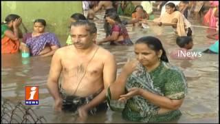 Godavari Antya Pushkaralu Ends Tomorrow | Devotes Holy Dip at Siddhantam Ghats | iNews