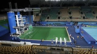 Going Green: Changes in Water Color at Rio Pools