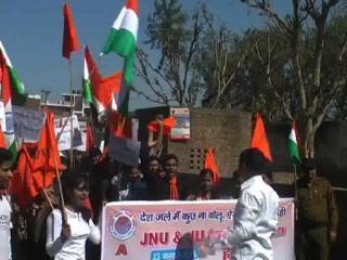 JNU मामले में देश विरोधी नारे लगाने वालों के खिलाफ उग्र हुई ABVP