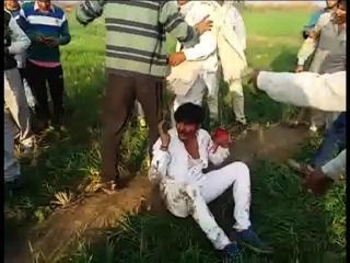 रोहतकः गांव शिमली में दो युवकों की पिटाई का वीडियो वायरल