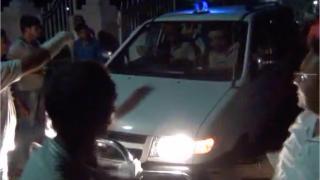 थाने में ग्रामीणों ने किया हंगामा, पुलिस पर लगाया कार्यवाही ना करने का आरोप