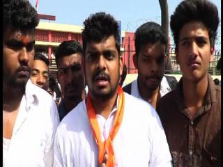 ABVP  कार्यकर्ताओं ने कॉलेज के बाहर किया हंगामा, जड़ा ताला