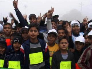 अंबाला में मैराथन दौड़ का आयोजन, हजारों लोगों ने लगाई दौड़