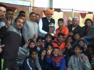 यमुनानगर में फुटबॉल टूर्नामेंट अायोजन, उत्तराखंड ने जीती ट्राफी