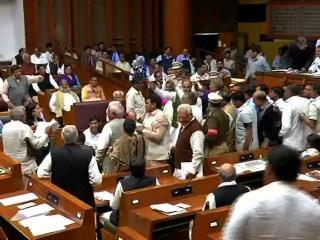 विधानसभा बजट सत्रः कांग्रेस के 3 विधायक 6 महीने के लिए निलंबित