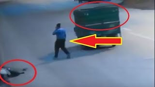 Shocking CCTV Video :  Public Left Accident Victim to Die on Road in Delhi ,nobody helps.
