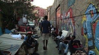 Rome cul-de-sac becomes open air dormitory for migrants