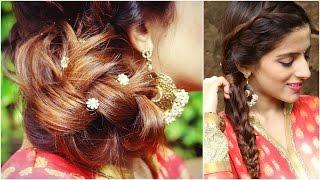 Hairstyles for Raksha Bandhan Indian Hairstyles Medium to Long Hair