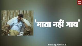 नीरज भारती का विवादित बयान, कहा गाय माता नहीं
