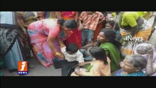 Manhole Mishap Victims Family Protest Demands Ex-Gratia | iNews