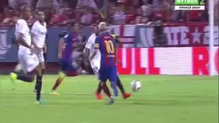 Sevilla Vs Barcelona 0-2 Luis Suarez Goal -Super Cup 14/08/16