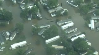 Aerial Video Shows Widespread Louisiana Flooding