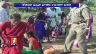 Road Accident at Jadcherla | RTC Bus Rolls Over Passengers Injured | iNews