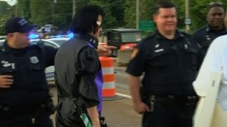 Raw: Protest Near Graceland as Elvis Week Starts