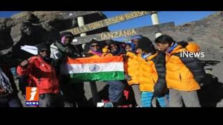 Medak students Climbs Mount Kilimanjaro, Unfurl Tricolour Atop   iNews