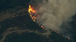 Raw: Weather Still Plagues Calif. Wildfire Fight