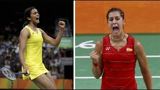 PV Sindhu vs Marin Badminton Final - Carolina Marin Won 2nd Set - Rio Olympics 2016